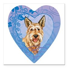 "berger-heart Square Car Magnet 3"" x 3"""
