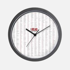 Comedy of Errors shower curtain Wall Clock