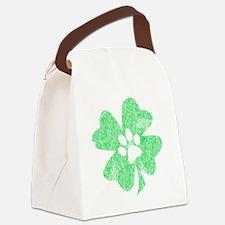Paw Shamrock Canvas Lunch Bag