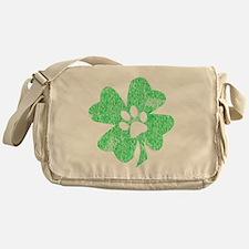 Paw Shamrock Messenger Bag