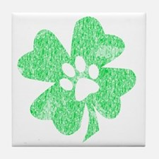 Paw Shamrock Tile Coaster