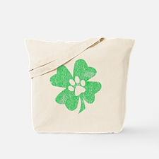 Paw Shamrock Tote Bag