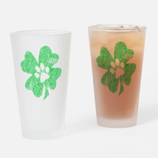 Paw Shamrock Drinking Glass