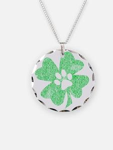 Paw Shamrock Necklace