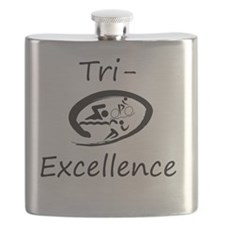 Tri-Excellence Brand Logo Flask