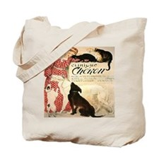 Vintage French Woman Dogs Cats Tote Bag