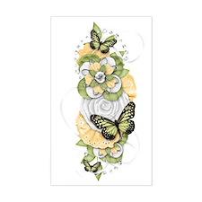 Butterfly Sensations Green Decal
