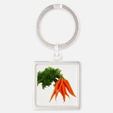 carrots Square Keychain
