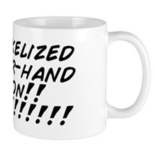 Pre-pickelized cucumber-hand invasion!! Mug