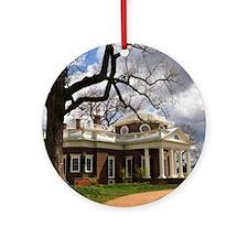 Monticello Square Round Ornament