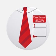 shaun tee 2 Round Ornament