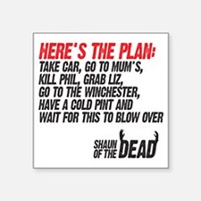"the plan Square Sticker 3"" x 3"""