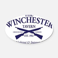 winchester Oval Car Magnet