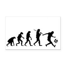 Evolution of the soccer playe Rectangle Car Magnet