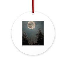 Wolf Moon 2013 Round Ornament