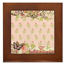 Old Time Butterfly Framed Tile