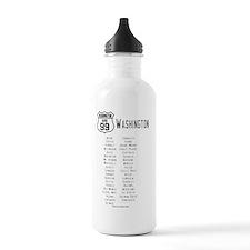 US Route 99 - Washingt Water Bottle