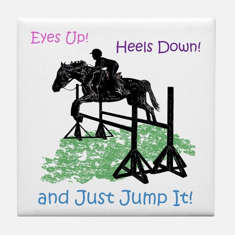 Fun Hunter/Jumper Equestrian Horse Tile Coaster