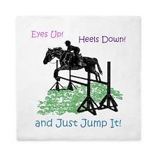Fun Hunter/Jumper Equestrian Horse Queen Duvet