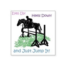 "Fun Hunter/Jumper Equestria Square Sticker 3"" x 3"""