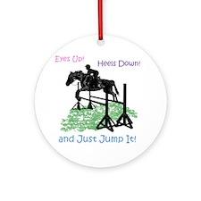 Fun Hunter/Jumper Equestrian Horse Round Ornament