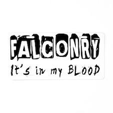 Falconry Designs Aluminum License Plate