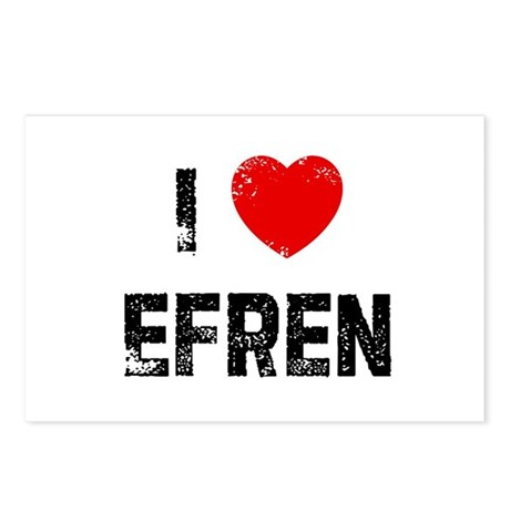 I * Efren Postcards (Package of 8)