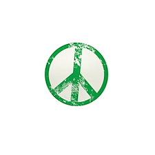 Green Distressed Peace Mini Button
