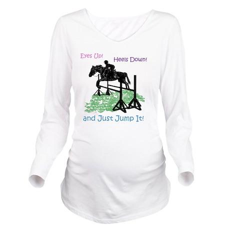Fun Hunter/Jumper Eq Long Sleeve Maternity T-Shirt