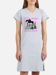 Fun Hunter/Jumper Equestrian Ho Women's Nightshirt