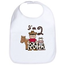Cowboy 2nd Birthday Bib