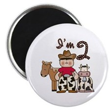 Cowboy 2nd Birthday Magnet