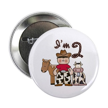 "Cowboy 2nd Birthday 2.25"" Button (10 pack)"