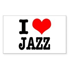 I Heart (Love) Jazz Rectangle Decal