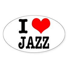 I Heart (Love) Jazz Oval Decal