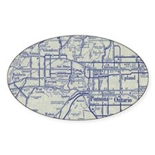 Map of Pomona and San Gabriel Valle Decal
