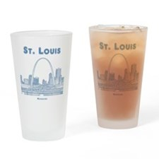 StLouis_10x10_Downtown_Blue Drinking Glass