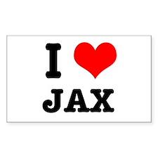 I Heart (Love) Jax Rectangle Decal