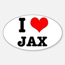 I Heart (Love) Jax Oval Decal