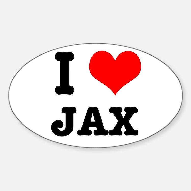 I Heart (Love) Jax Oval Decal