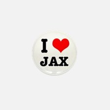 I Heart (Love) Jax Mini Button (10 pack)