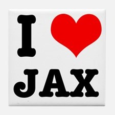 I Heart (Love) Jax Tile Coaster