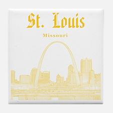 StLouis_12x12_Downtown_Yellow Tile Coaster