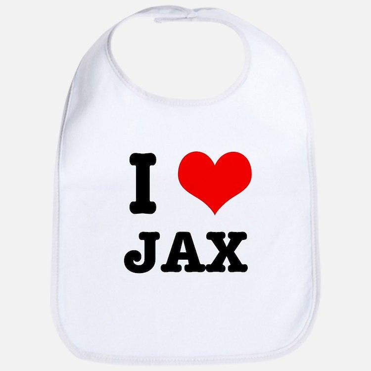 I Heart (Love) Jax Bib