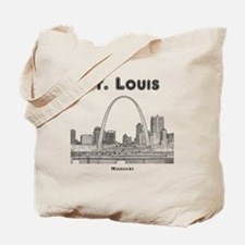 StLouis_10x10_Downtown_Black Tote Bag