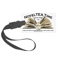 NovelTea Time Classic Curl up wi Luggage Tag