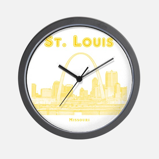StLouis_10x10_Downtown_Yellow Wall Clock