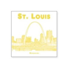 """StLouis_10x10_Downtown_Yell Square Sticker 3"""" x 3"""""""