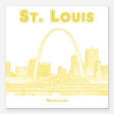 """StLouis_10x10_Downtown_Y Square Car Magnet 3"""" x 3"""""""