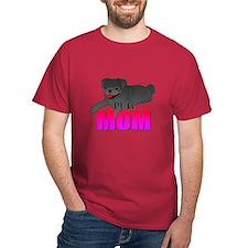 Black Pug Mom T-Shirt